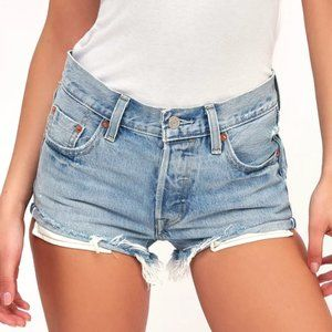 LEVIS 501 SHORTS LIGHT WASH SOLD OUT